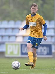 FODBOLD: Andreas O. Jensen (Ølstykke FC) under kampen i DBU Pokalens Indledende runde mellem Ølstykke FC og Lundtofte Boldklub den 21. maj 2019 på Ølstykke Stadion. Foto: Claus Birch