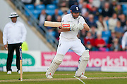 England & Yorkshire wicket keeper Jonny Bairstow  plays it down to third man during day 2 of the first Investec Test Series 2016 match between England and Sri Lanka at Headingley Stadium, Headingley, United Kingdom on 20 May 2016. Photo by Simon Davies.