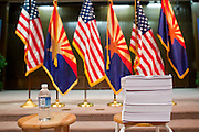 Nov. 23, 2009 -- PHOENIX, AZ: The 1990 page HR 3962, the House of Representatives' health care reform bill, on a stool before Sen. John McCain used it as a prop during a town hall meeting at North Phoenix Baptist Church in Phoenix, AZ. About 300 people, most of them medical professionals, attended the meeting to hear Sen. McCain talk about the health care reform proposals currently in congress and to give McCain their opinions on health care reform.   Photo by Jack Kurtz