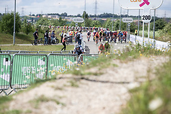 Ellen van Dijk (NED) of Trek-Segafredo leads the chase on Stage 2 of 2019 OVO Women's Tour, a 62.5 km road race starting and finishing in the Kent Cyclopark in Gravesend, United Kingdom on June 11, 2019. Photo by Balint Hamvas/velofocus.com
