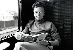 Man on a train, UK 1985