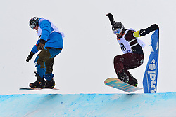 World Cup SBX, SCHETT Reinhold, AUT, VOS Chris, NED at the 2016 IPC Snowboard Europa Cup Finals and World Cup