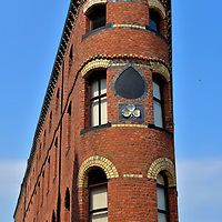 Red Brick Flatiron Building in Belfast, Northern Ireland <br />