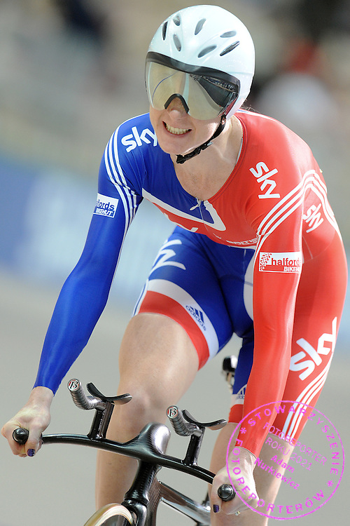 WENDY HOUVENAGHEL (GREAT BRITAIN) DURING WOMEN'S INDIVIDUAL PURSUIT 3000 METERS UCI TRACK CYCLING WORLD CHAMPIONSHIPS PRUSZKOW 2009 IN POLAND...POLAND, PRUSZKOW , MARCH 25, 2009..( PHOTO BY ADAM NURKIEWICZ / MEDIASPORT )..PICTURE ALSO AVAIBLE IN RAW OR TIFF FORMAT ON SPECIAL REQUEST.