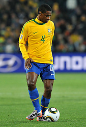 28.06.2010, Ellis Park Stadium, Johannesburg, RSA, FIFA WM 2010, Brazil (BRA) vs Chile.C (CHI), im Bild Juan (Brasile).. EXPA Pictures © 2010, PhotoCredit: EXPA/ InsideFoto/ Giorgio Perottino +++ for Austria and Slovenia only +++ / SPORTIDA PHOTO AGENCY