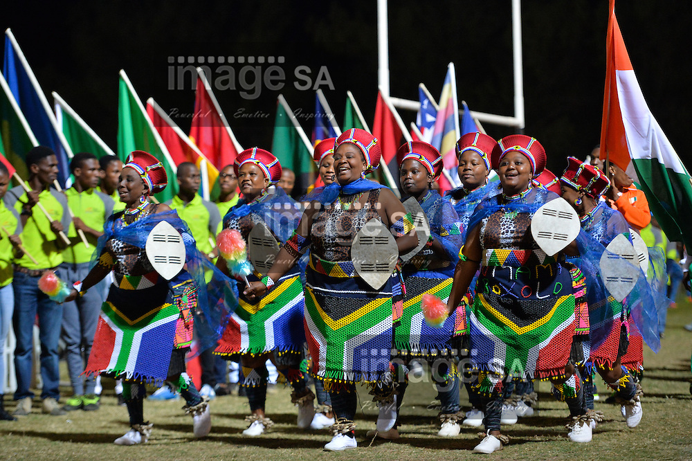 DURBAN, SOUTH AFRICA - JUNE 21: traditional dancers during the CAA 20th African Senior Championships Opening Ceremony at Growth Point Kings Park stadium on June 21, 2016 in Durban, South Africa. (Photo by Roger Sedres/Gallo Images)