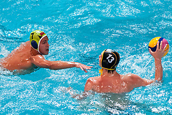 Christian Theis of Germany vs Martin Pus of Slovenia at water polo match between National men teams of Slovenia and Germany in Qualifications for European Championships in Eindhoven 2012 on June 18, 2011 in Pokriti bazen, Kranj Slovenia. (Photo By Matic Klansek Velej / Sportida.com)