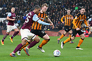 Aston Villa midfielder Lewis Grabban (45) attacking  during the EFL Sky Bet Championship match between Hull City and Aston Villa at the KCOM Stadium, Kingston upon Hull, England on 31 March 2018. Picture by Mick Atkins.