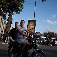 Morocco, Marrakech Mohamed V avenue, street life
