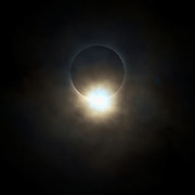 The diamond ring effect can only be seen for a couple of seconds just before totality (total solar eclipse), only a thin ring of the suns corona is visible behind the moon and the last of an effect called Baily's beads is seen as the diamond. Shot in China in 2009...