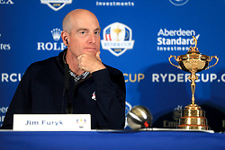 USA captain Jim Furyk during a media event ahead of the 2018 Ryder Cup at The Hotel Pullman Paris Eiffel Tower, Paris.