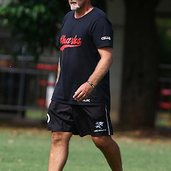 DURBAN, SOUTH AFRICA, 28 January 2016 -  Robert du Preez( Assistant Coach) of the Cell C Sharks during The Cell C Sharks Pre Season training for the 2016 Super Rugby Season at Growthpoint Kings Park in Durban, South Africa. (Photo by Steve Haag)<br /> images for social media must have consent from Steve Haag