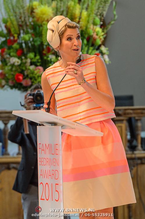 NLD/Den Haag/20150624 - Familiebedrijven Award 2015, Koninging Maxima