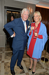 SIR BENJAMIN SLADE and PRINCESS OLGA ROMANOFF at a cocktail party hosted by Mrs Sonia Falcone and Mrs Kimberley Robson Chairman of Le Bal de la Riveria 2016 for the forthcoming Ball held at Flemings Hotel, Half Moon Street, London on 27th September 2016.