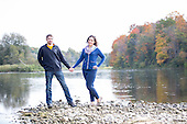 engagement photos, along the Grand River, Cambridge