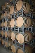 Israel, Lower Galilee, Tabor Winery, Oak wood wine ageing barrels