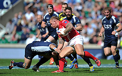 LCpl Ricky Reeves of the Army goes on the attack - Photo mandatory by-line: Patrick Khachfe/JMP - Mobile: 07966 386802 09/05/2015 - SPORT - RUGBY UNION - London - Twickenham Stadium - Army v Royal Navy - Babcock Trophy