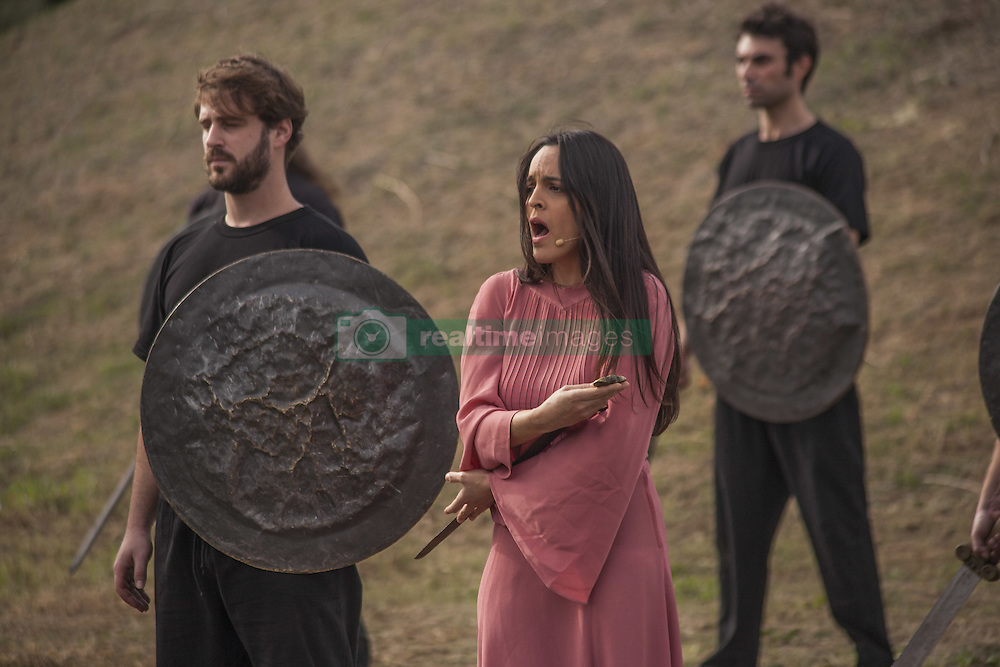 November 12, 2016 - Marathonas, Greece - Choreography representing the battle of Marathon during the lighting of Marathon Flame in Marathonas. Ceremony in the Greek city of Marathonas as part of the 35 Athens Marathon the Authentic. (Credit Image: © George Panagakis/Pacific Press via ZUMA Wire)