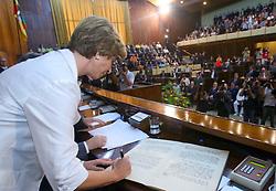 A governadora do Rio Grande do Sul, Yeda Crusius durante sessão solene da sua posse na Assembléia Legislativa.  FOTO: Jefferson Bernardes/Preview.com