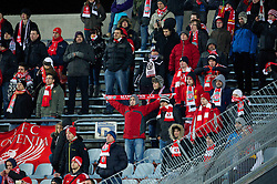 06.12.2012, Stadio Friuli, Udine, ITA, UEFA EL, Udinese Calcio vs FC Liverpool, Gruppe A, im Bild Liverpool supporters brave the cold to see their side beat Udinese Calcio 1-0 during during the UEFA Europa League group A match between Udinese Calcio and Liverpool FC at the Stadio Friuli, Udinese, Italy on 2012/12/06. EXPA Pictures © 2012, PhotoCredit: EXPA/ Propagandaphoto/ David Rawcliffe..***** ATTENTION - OUT OF ENG, GBR, UK *****