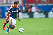 FRISCO, TX - AUGUST 11:  A.J. DeLaGarza #20 of the Los Angeles Galaxy controls the ball against FC Dallas on August 11, 2013 at FC Dallas Stadium in Frisco, Texas.  (Photo by Cooper Neill/Getty Images) *** Local Caption *** A.J. DeLaGarza