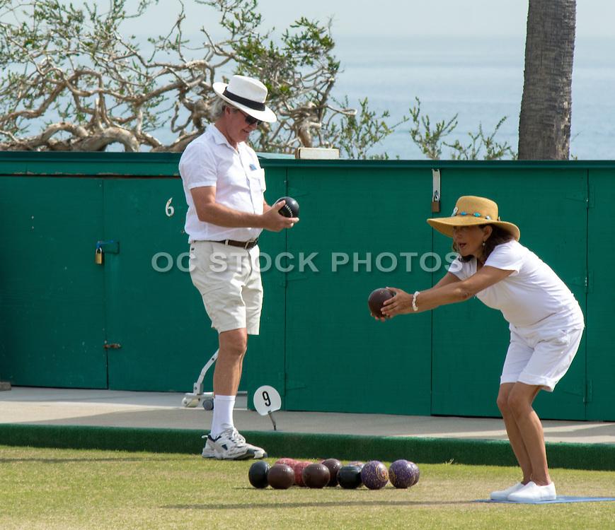 Laguna Beach Lawn Bowling Stock Photo