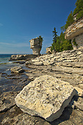 Limestone Flowerpots on Flowerpot Island in Georgian Bay<br />