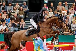 DEVOS Pieter (BEL), Just Me D<br /> Leipzig - Partner Pferd 2020<br /> Championat von Leipzig<br /> Springprfg. mit Stechen, international<br /> Höhe: 1.50 m<br /> 18. Januar 2020<br /> © www.sportfotos-lafrentz.de/Stefan Lafrentz