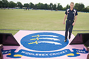 Middlesex batsman Adam Voges ahead of the NatWest T20 Blast South Group match between Middlesex County Cricket Club and Hampshire County Cricket Club at Uxbridge Cricket Ground, Uxbridge, United Kingdom on 27 May 2016. Photo by David Vokes.