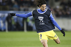 December 13, 2017 - Strasbourg, France - Cavani Edinson Roberto 9  of PSG during warm-up before the french League Cup match, Round of 16, between Strasbourg and Paris Saint Germain on December 13, 2017 in Strasbourg, France. (Credit Image: © Elyxandro Cegarra/NurPhoto via ZUMA Press)
