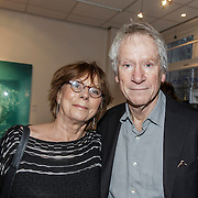"NLD/Amsterdam/20150110 - Expositie opening Micky Hoogendijk ""The Other Side of Fear is Freedom"", Gerrit-Jan Wolfensperger en partner Adri de Vries"