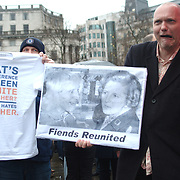 Friends reunited banner showing Saville and Thatcher.