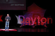 Jay Martinez speaks during TEDx Dayton at the Victoria Theatre in downtown Dayton, Friday, November 15, 2013.  TEDx Dayton is a localized version, and uses a format similar to national TED (Technology, Entertainment, Design) events.