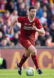 LIVERPOOL, ENGLAND - Saturday, March 24, 2018. Xabi Alonso of Liverpool Legends in action during the LFC Foundation charity match between Liverpool FC Legends and FC Bayern Munich Legends at Anfield. (Pic by Peter Powell/Propaganda)