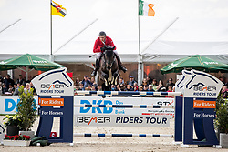 MEYER Tobias (GER), Quintair<br /> Hagen - Horses and Dreams 2019 <br /> Großer Preis der Deutschen Kreditbank AG- BEMER RIDERS TOUR - Wertungsprüfung - CSI4* Grand Prix Two Rounds<br /> 28. April 2019<br /> © www.sportfotos-lafrentz.de/Stefan Lafrentz