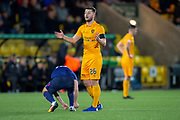 Craig Halkett (#26) of Livingston FC during the Ladbrokes Scottish Premiership match between Livingston FC and Heart of Midlothian FC at the Tony Macaroni Arena, Livingston, Scotland on 14 December 2018.