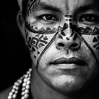 Tribal warrior, Amazon. Brazil.