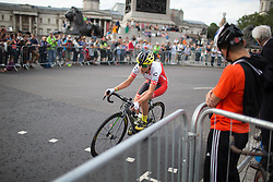 Doris Schweizer (SUI) of Cylance Pro Cycling rides through Trafalgar Square during the Prudential RideLondon Classique, a 66 km road race in London on July 30, 2016 in the United Kingdom.