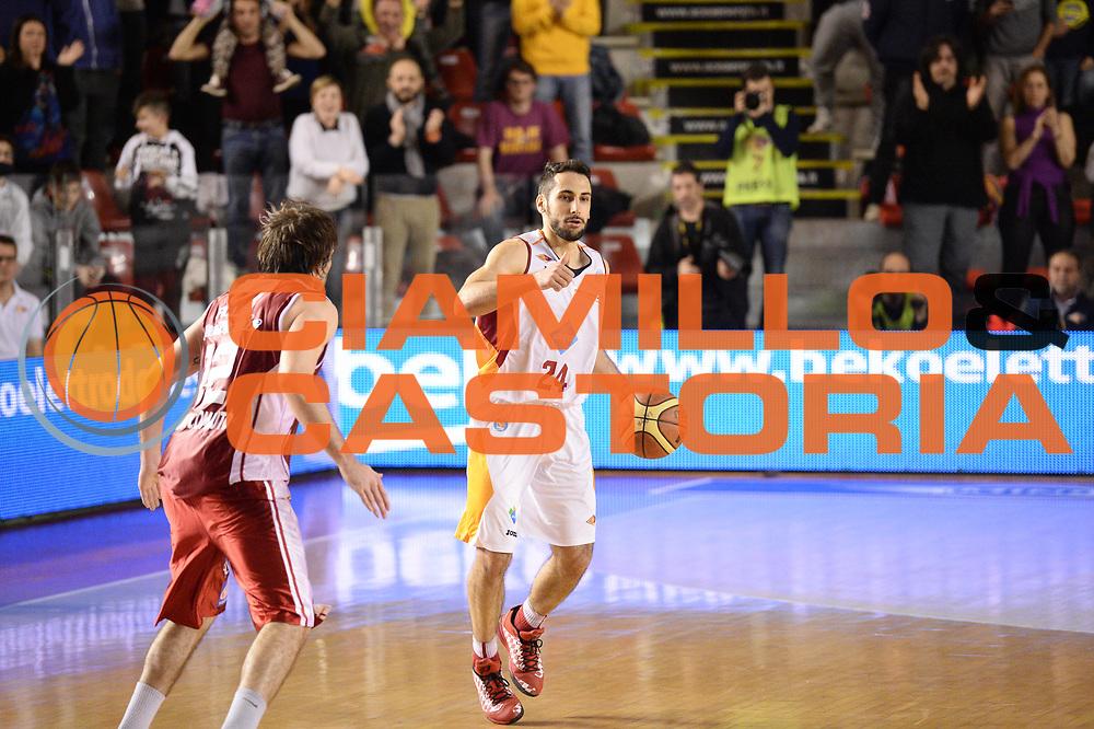 DESCRIZIONE : Roma Lega A 2014-15 Acea Virtus Roma Giorgio Tesi group Pistoia<br /> GIOCATORE : rok stipcevic<br /> CATEGORIA : palleggio<br /> SQUADRA : Acea Virtus Roma Giorgio Tesi group Pistoia<br /> EVENTO : Campionato Lega Serie A 2014-2015<br /> GARA : Acea Virtus Roma Giorgio Tesi group Pistoia<br /> DATA : 22.03.2014<br /> SPORT : Pallacanestro <br /> AUTORE : Agenzia Ciamillo-Castoria/M.Greco<br /> Galleria : Lega Basket A 2014-2015 <br /> Fotonotizia : Roma Lega A 2014-15 Acea Virtus Roma Giorgio Tesi group Pistoia