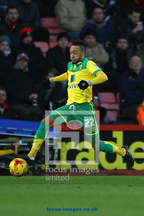 Nathan Redmond of Norwich in action during the match at the Goldsands Stadium, Bournemouth<br /> Picture by Paul Chesterton/Focus Images Ltd +44 7904 640267<br /> 10/01/2015