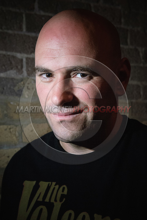 A portrait of UFC President Dana White