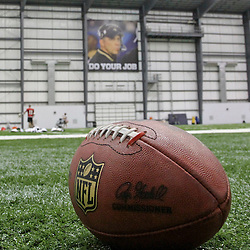 July 27, 2012; Metairie, LA, USA; A banner featuring the image of suspended New Orleans Saints head coach Sean Payton hangs on the wall during training camp at the team's indoor practice facility. Mandatory Credit: Derick E. Hingle-US PRESSWIRE