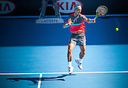 The worlds number one men's singles player - Rafael Nadal of Spain was given something to think about by Grigor Dimitrov of Bulgaria in Day 10 of the Australian Open. The unseeded Dimitrov challenged Nadal back and forth for most of the afternoon match but in the end, Nadal came out on top 3-6, 7-6 (3), 7-6 (7), 6-2. The match was held at Melbourne's Rod Laver Arena.