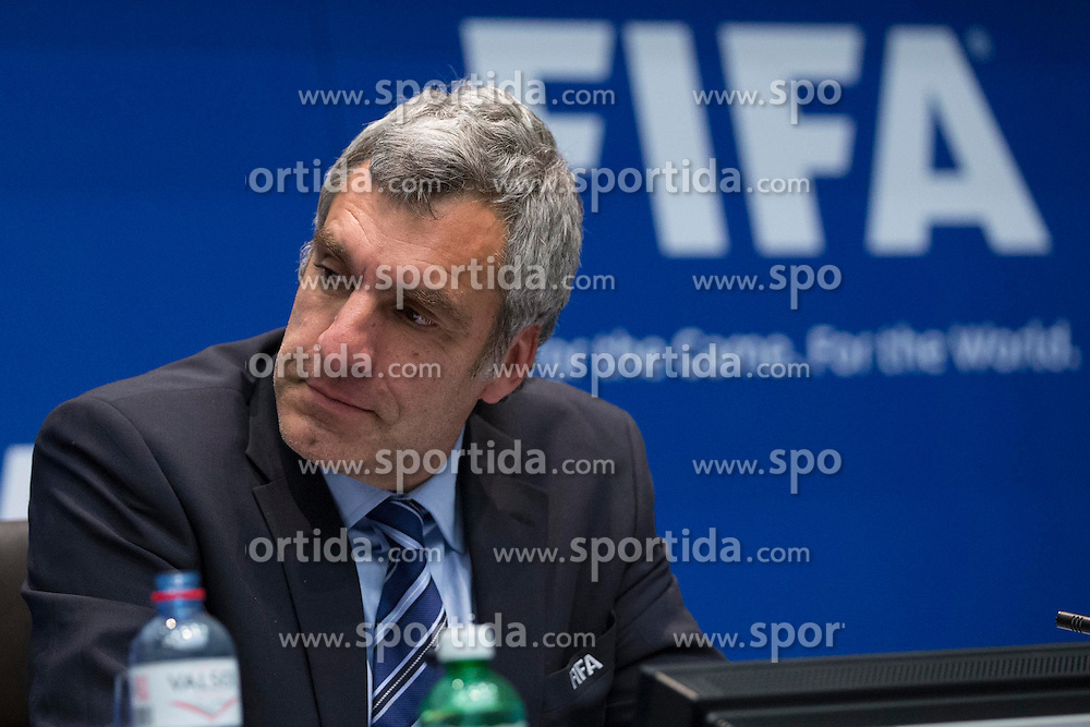 21.03.2014, Home of FIFA, Zuerich, SUI, FIFA, Pressekonferenz des Exekutivkomitee, im Bild FIFA Konnunikations Direktor Walter De Gregorio // during a press conference of the FIFA Executive Committee at the Home of FIFA in Zuerich, Switzerland on 2014/03/21. EXPA Pictures © 2014, PhotoCredit: EXPA/ Freshfocus/ Andreas Meier<br /> <br /> *****ATTENTION - for AUT, SLO, CRO, SRB, BIH, MAZ only*****