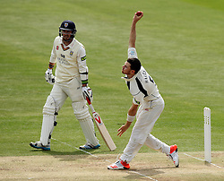 Middlesex's James Harris bowls - Photo mandatory by-line: Robbie Stephenson/JMP - Mobile: 07966 386802 - 04/05/2015 - SPORT - Football - London - Lords  - Middlesex CCC v Durham CCC - County Championship Division One