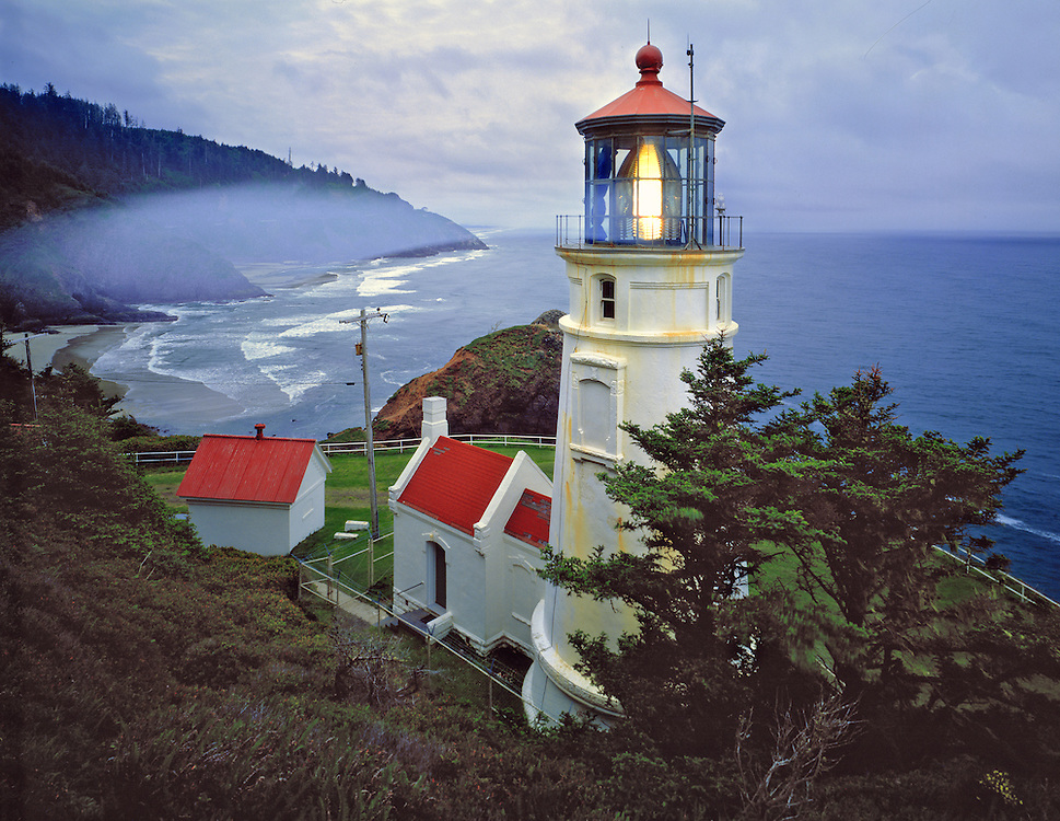 Heceta Head Light is one of many historic lighthouses along the Oregon Coast. ©Ric Ergenbright
