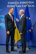 20140306 EU summit with Yatsenyuk