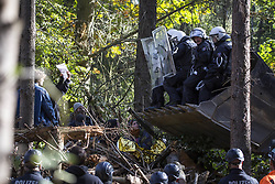 October 1, 2018 - Kerpen, Nordrhein-Westfalen, Germany - Eviction of the occupation in Paragraph 11 in the Hambacher Forst at 1st October 2018 (Credit Image: © Jannis Grosse/ZUMA Wire)