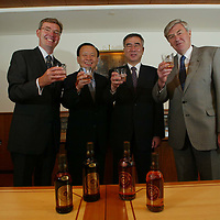 The launch of Lancelot 'super premium' Scotch Whisky for the South Korean market.<br />