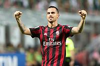 c - Milano - 27.08.2017 - Milan-Cagliari - Serie A 2a giornata   - nella foto:  Suso esulta dopo il gol del 2 a 1